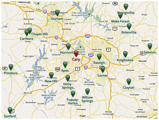 Nc Map Of Cities And Towns.Cary Relocation Information Cities Near Cary Nc Life In Cary